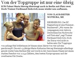 Mittelbayerische Zeitung vom 10.11.2011